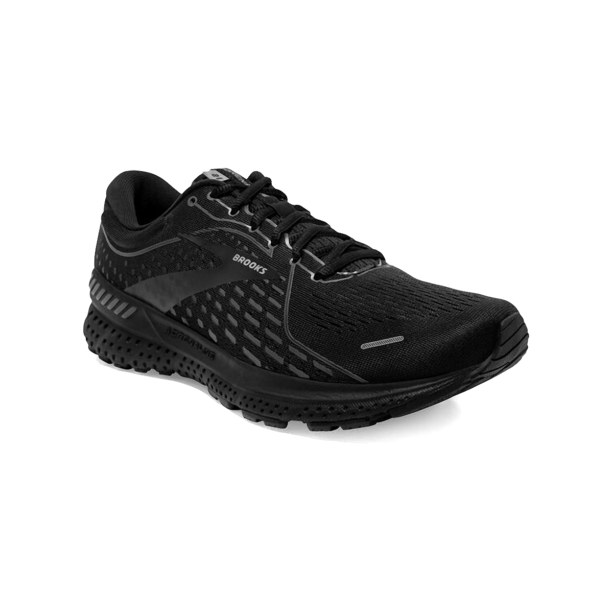 Men's Brooks Adrenaline GTS 21 Running Shoe - Color: Black/Black/Ebony - Size: 7 - Width: Regular, Black/Black/Ebony, large, image 3