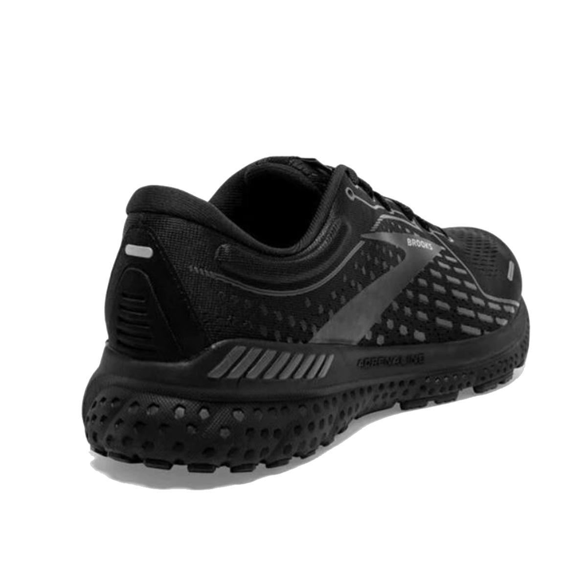 Men's Brooks Adrenaline GTS 21 Running Shoe - Color: Black/Black/Ebony - Size: 7 - Width: Regular, Black/Black/Ebony, large, image 4