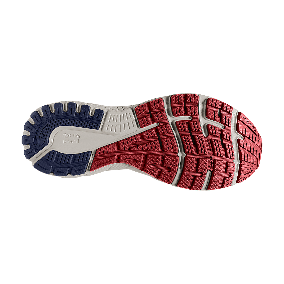 Men's Brooks Adrenaline GTS 21 Running Shoe - Color: Peacoat/Grey/Red - Size: 7 - Width: Regular, Peacoat/Grey/Red, large, image 3