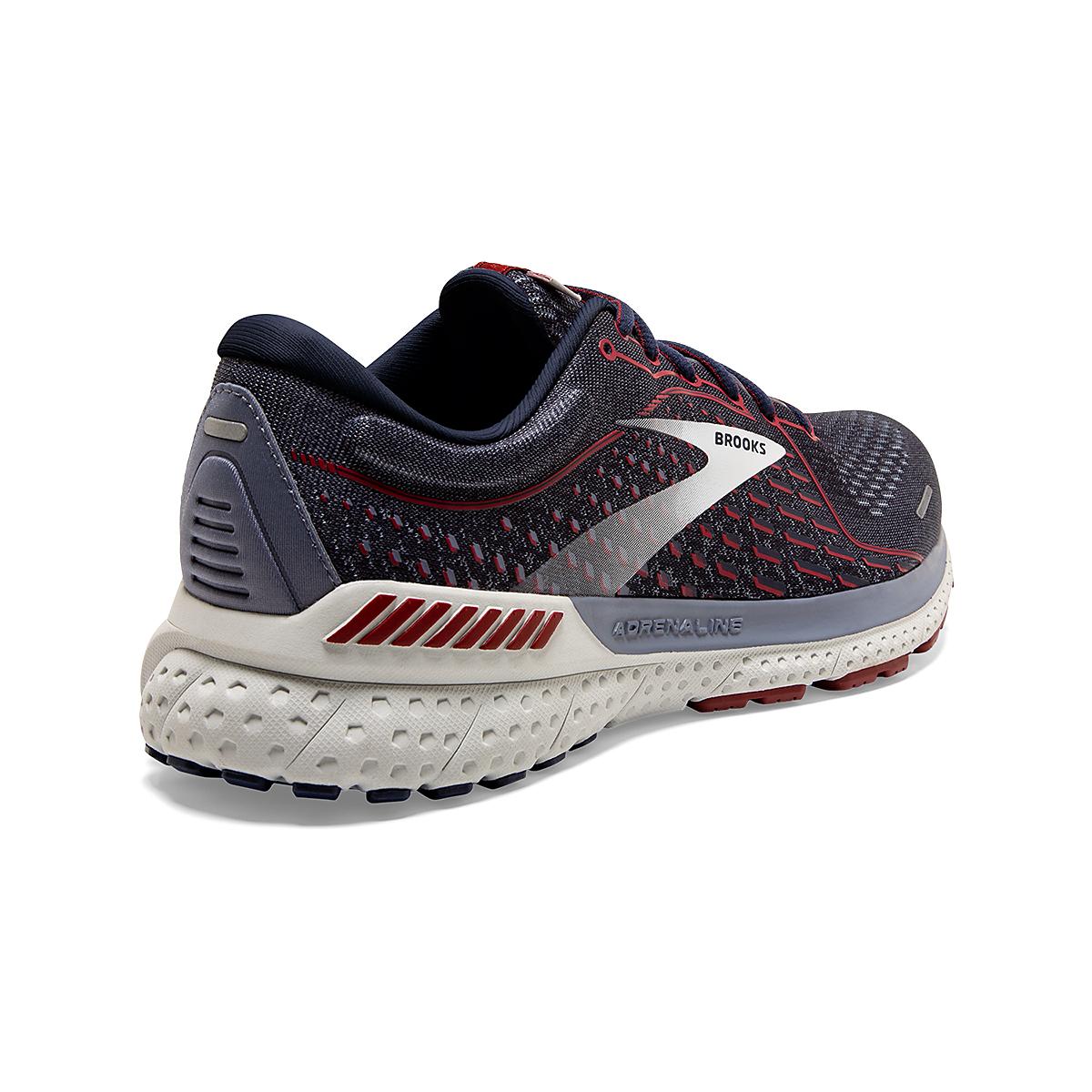 Men's Brooks Adrenaline GTS 21 Running Shoe - Color: Peacoat/Grey/Red - Size: 7 - Width: Regular, Peacoat/Grey/Red, large, image 5