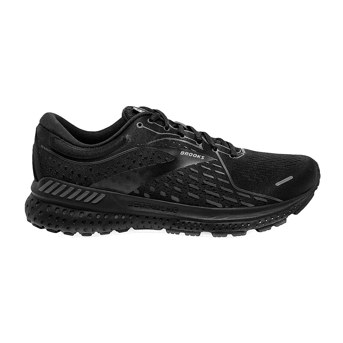 Men's Brooks Adrenaline GTS 21 Running Shoe - Color: Black/Black/Ebony - Size: 7 - Width: Regular, Black/Black/Ebony, large, image 1
