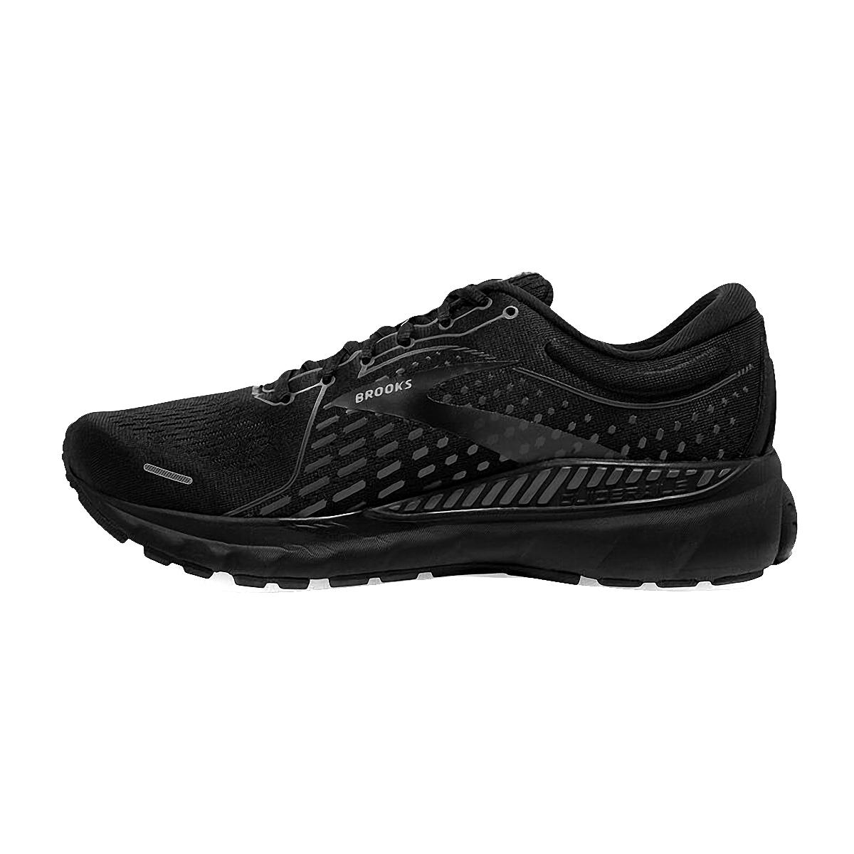 Men's Brooks Adrenaline GTS 21 Running Shoe - Color: Black/Black/Ebony - Size: 7 - Width: Regular, Black/Black/Ebony, large, image 2