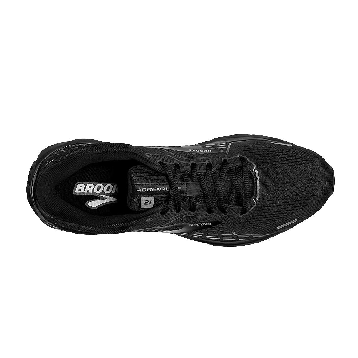 Men's Brooks Adrenaline GTS 21 Running Shoe - Color: Black/Black/Ebony - Size: 7 - Width: Regular, Black/Black/Ebony, large, image 3