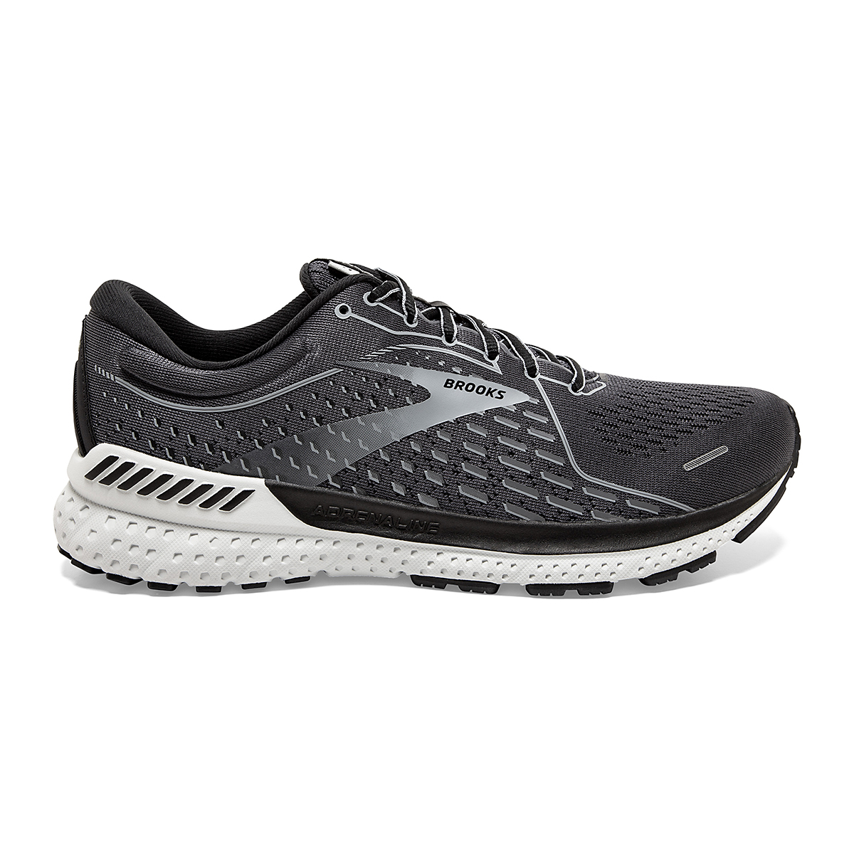 Men's Brooks Adrenaline GTS 21 Running Shoe - Color: Blackened Pearl - Size: 7 - Width: Regular, Blackened Pearl, large, image 1