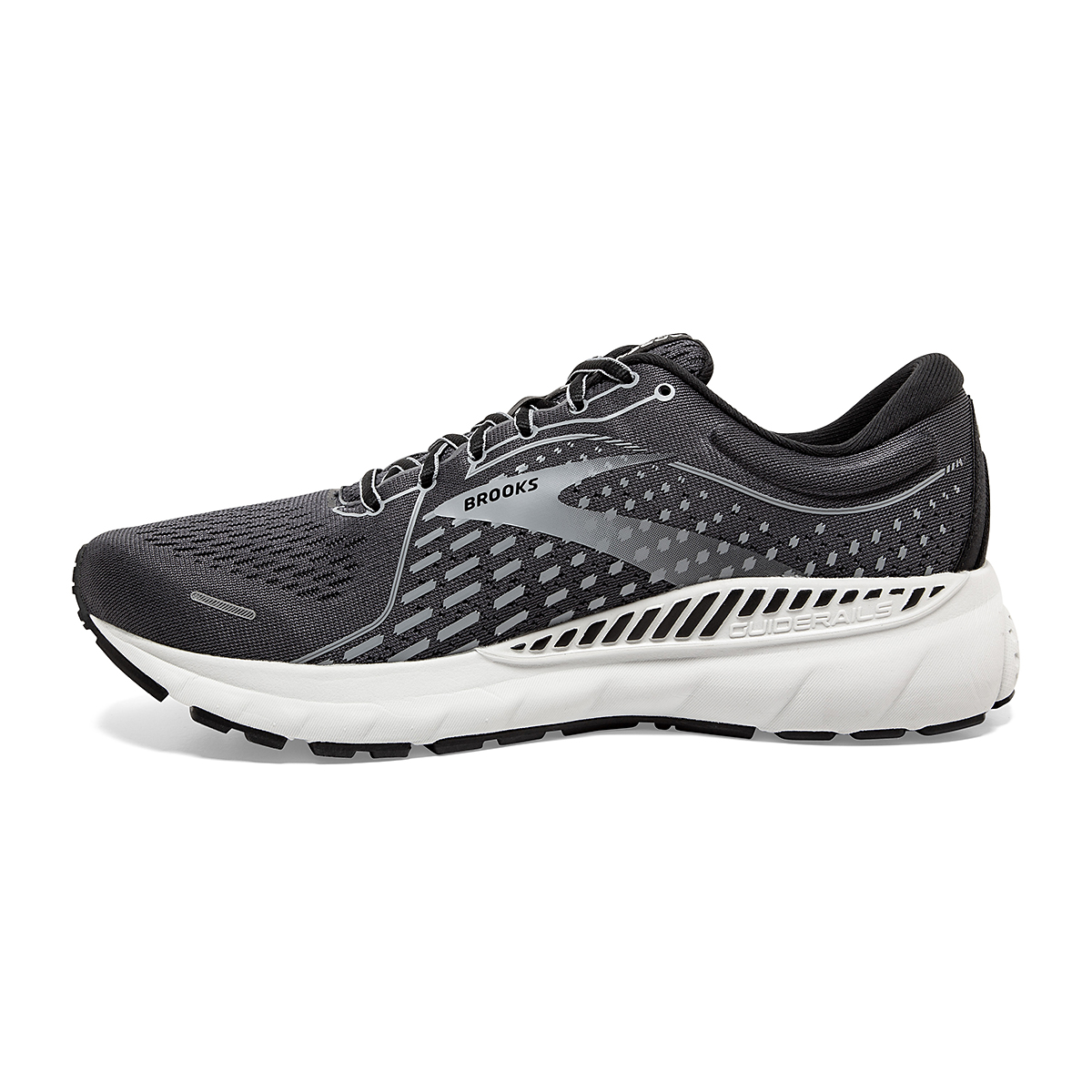 Men's Brooks Adrenaline GTS 21 Running Shoe - Color: Blackened Pearl - Size: 7 - Width: Regular, Blackened Pearl, large, image 2