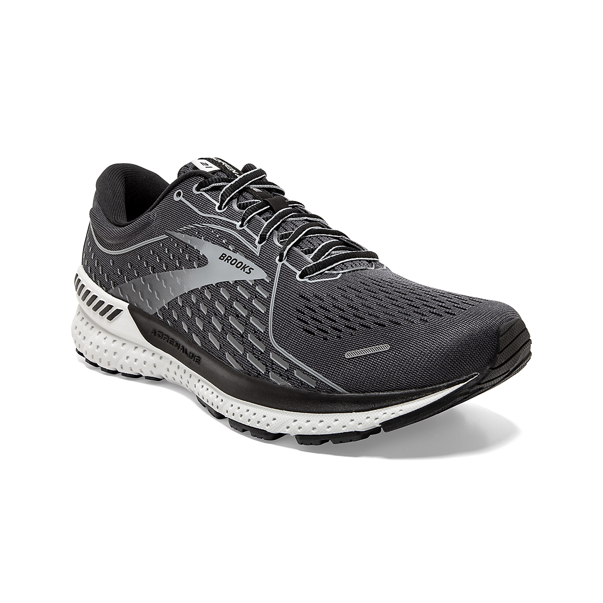 Men's Brooks Adrenaline GTS 21 Running Shoe - Color: Blackened Pearl - Size: 7 - Width: Regular, Blackened Pearl, large, image 3