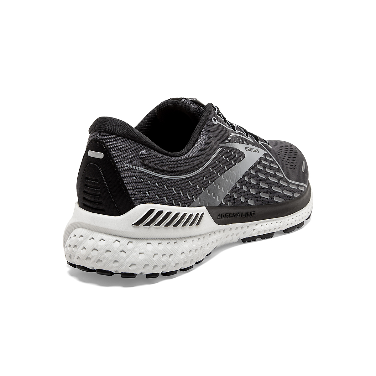 Men's Brooks Adrenaline GTS 21 Running Shoe - Color: Blackened Pearl - Size: 7 - Width: Regular, Blackened Pearl, large, image 4
