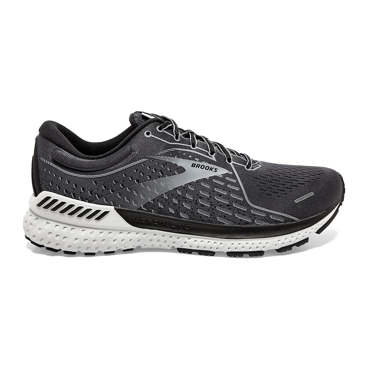 Men's Brooks Adrenaline GTS 21 Running Shoe - Color: Blackened Pearl - Size: 7 - Width: Regular, Blackened Pearl, large, image 1
