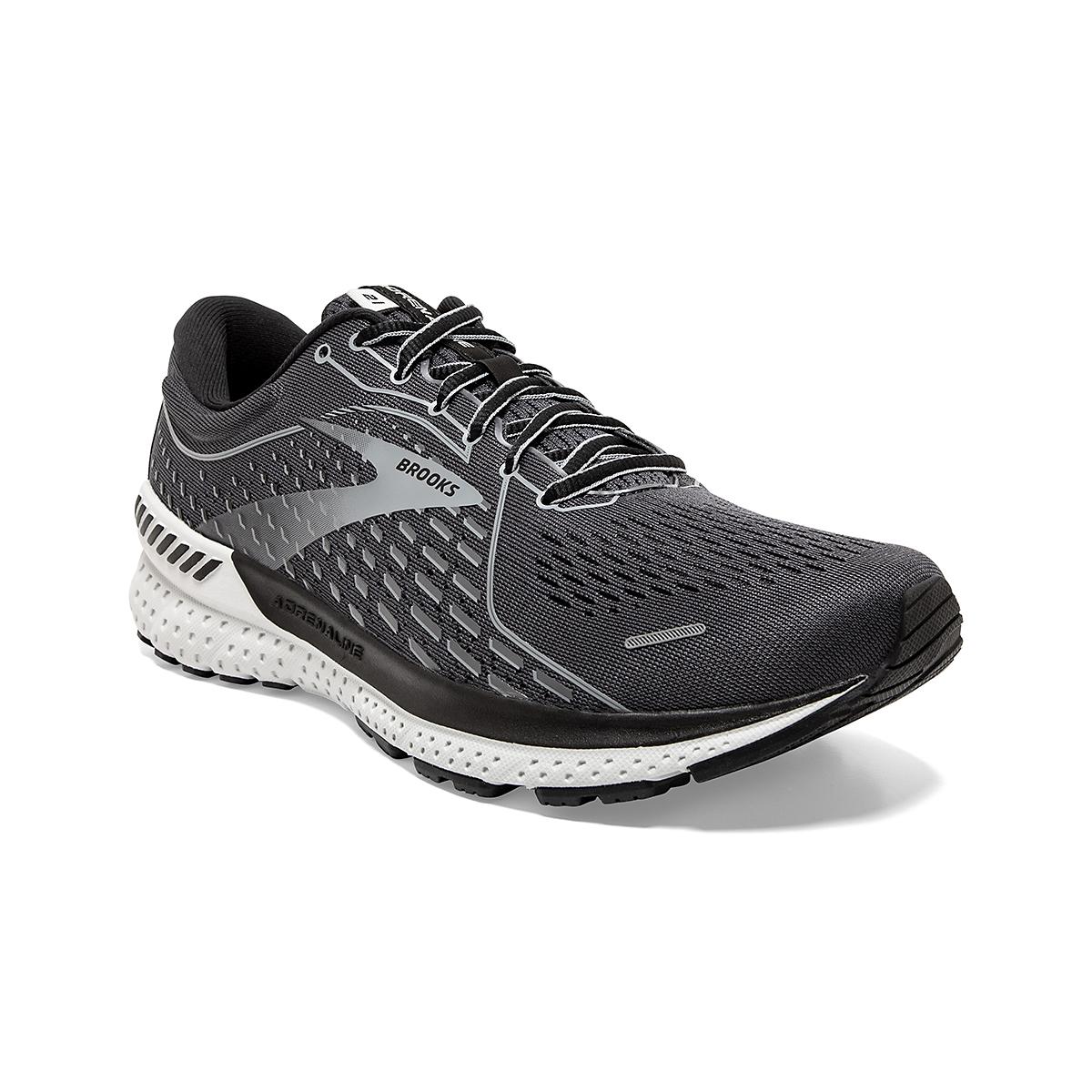Men's Brooks Adrenaline GTS 21 Running Shoe - Color: Blackened Pearl - Size: 7 - Width: Regular, Blackened Pearl, large, image 3
