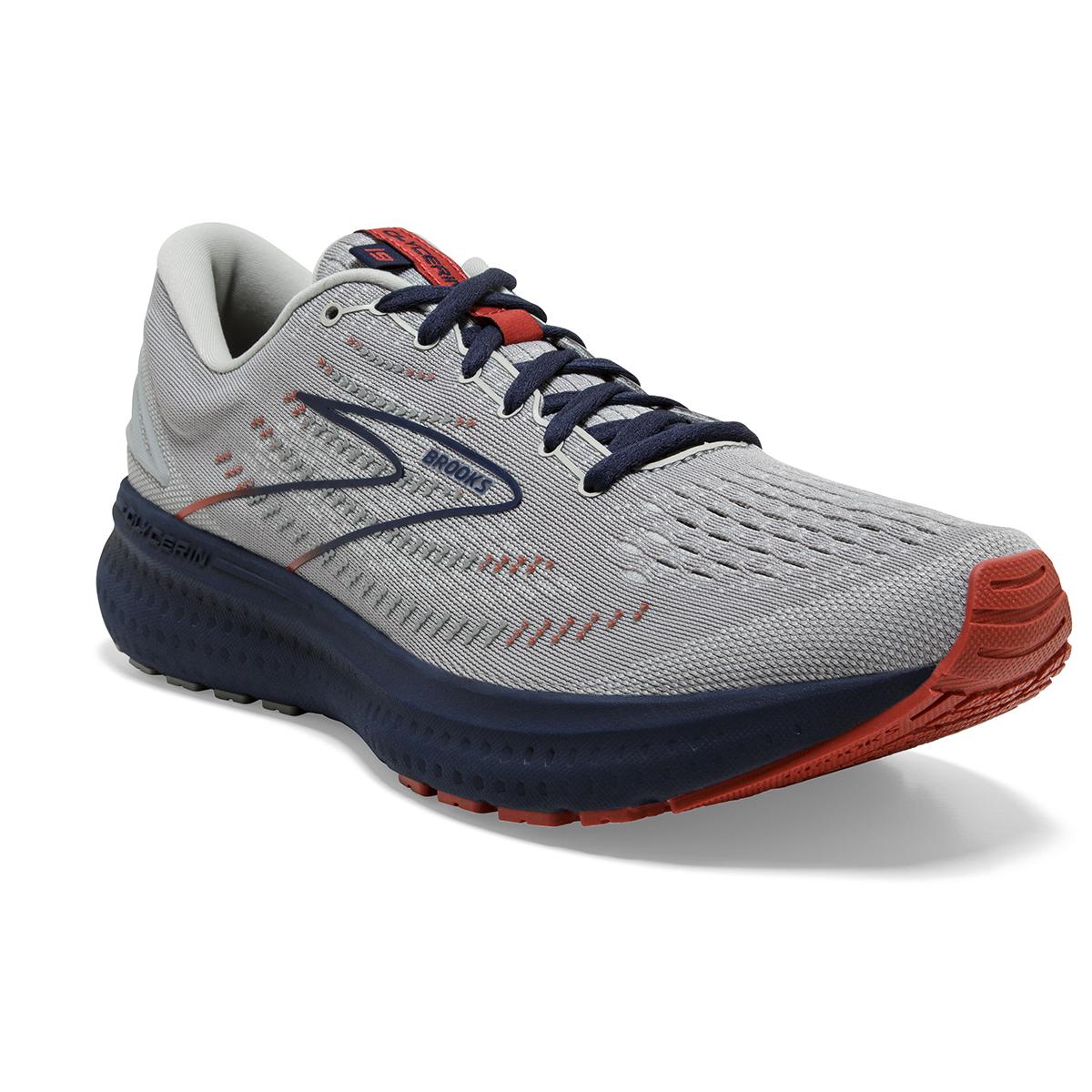 Men's Brooks Glycerin 19 Running Shoe - Color: Grey/Alloy/Peacoat - Size: 7 - Width: Regular, Grey/Alloy/Peacoat, large, image 2
