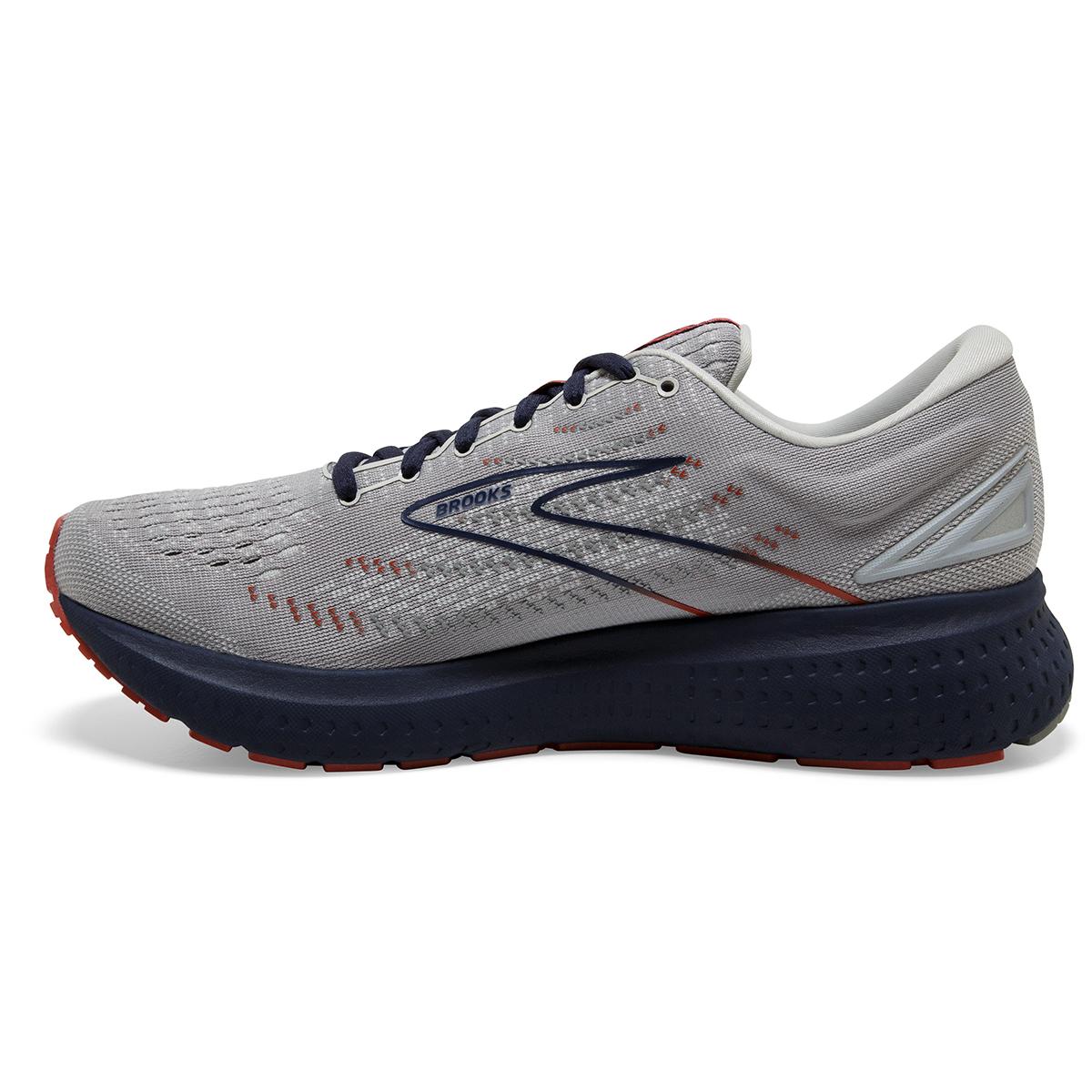 Men's Brooks Glycerin 19 Running Shoe - Color: Grey/Alloy/Peacoat - Size: 7 - Width: Regular, Grey/Alloy/Peacoat, large, image 3