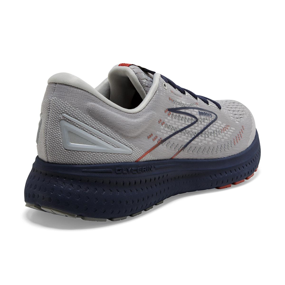 Men's Brooks Glycerin 19 Running Shoe - Color: Grey/Alloy/Peacoat - Size: 7 - Width: Regular, Grey/Alloy/Peacoat, large, image 4