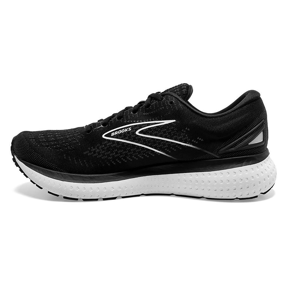 Men's Brooks Glycerin 19 Running Shoe - Color: Black/White - Size: 7 - Width: Regular, Black/White, large, image 2