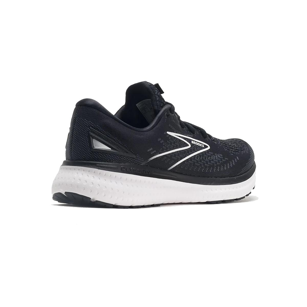 Men's Brooks Glycerin 19 Running Shoe - Color: Black/White - Size: 7 - Width: Regular, Black/White, large, image 4