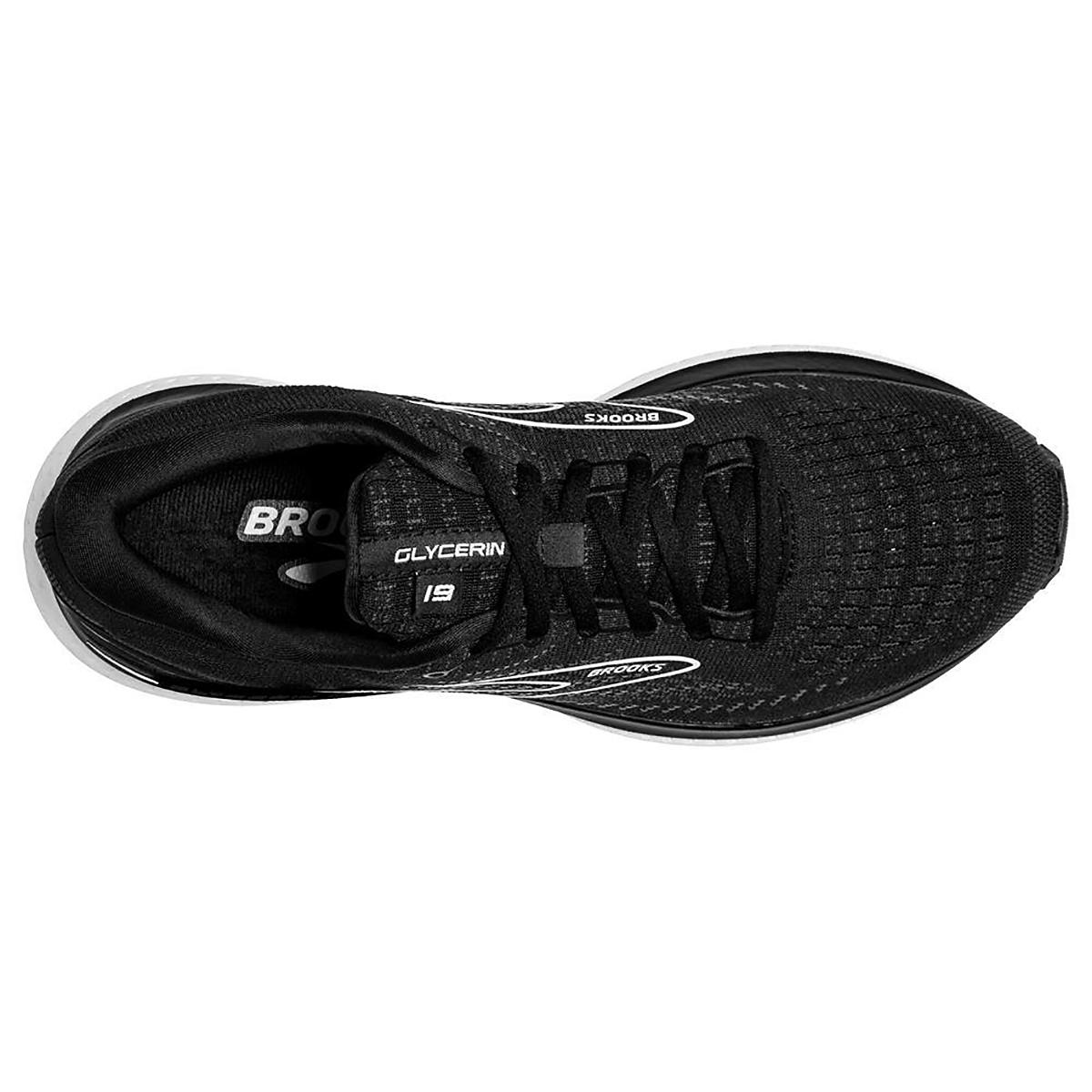 Men's Brooks Glycerin 19 Running Shoe - Color: Black/White - Size: 7 - Width: Regular, Black/White, large, image 5