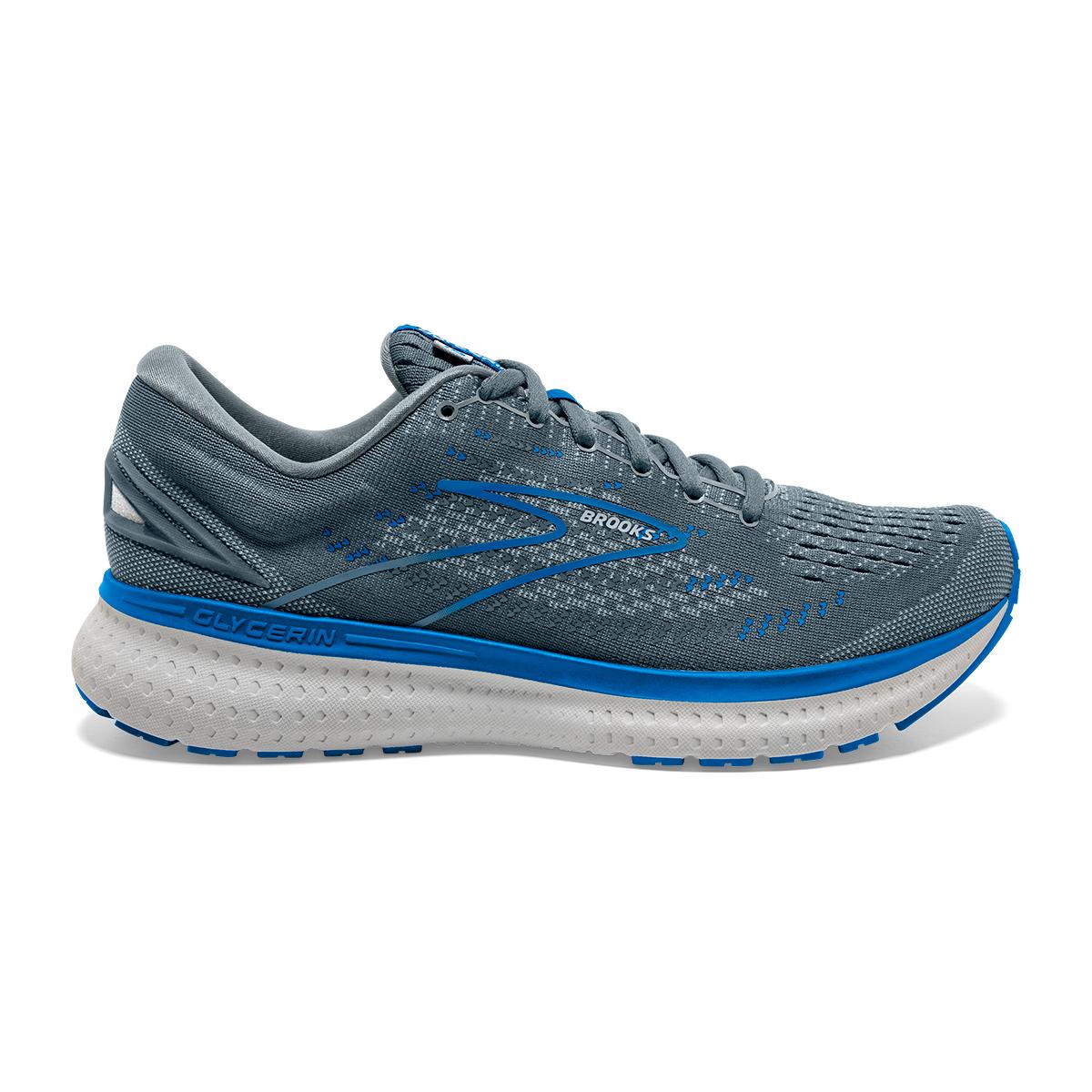 Men's Brooks Glycerin 19 Running Shoe - Color: Quarry/Grey/Dark - Size: 7 - Width: Regular, Quarry/Grey/Dark, large, image 1