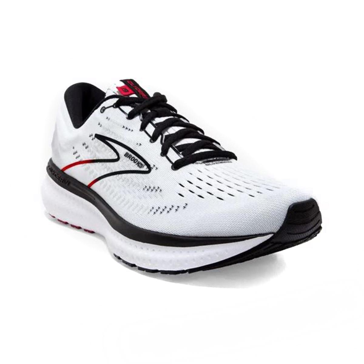 Men's Brooks Glycerin 19 Running Shoe - Color: White/Black/Red - Size: 7 - Width: Regular, White/Black/Red, large, image 3