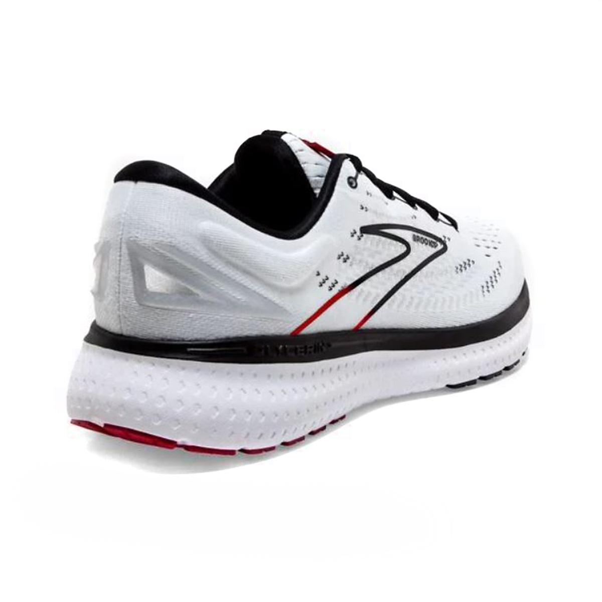 Men's Brooks Glycerin 19 Running Shoe - Color: White/Black/Red - Size: 7 - Width: Regular, White/Black/Red, large, image 4