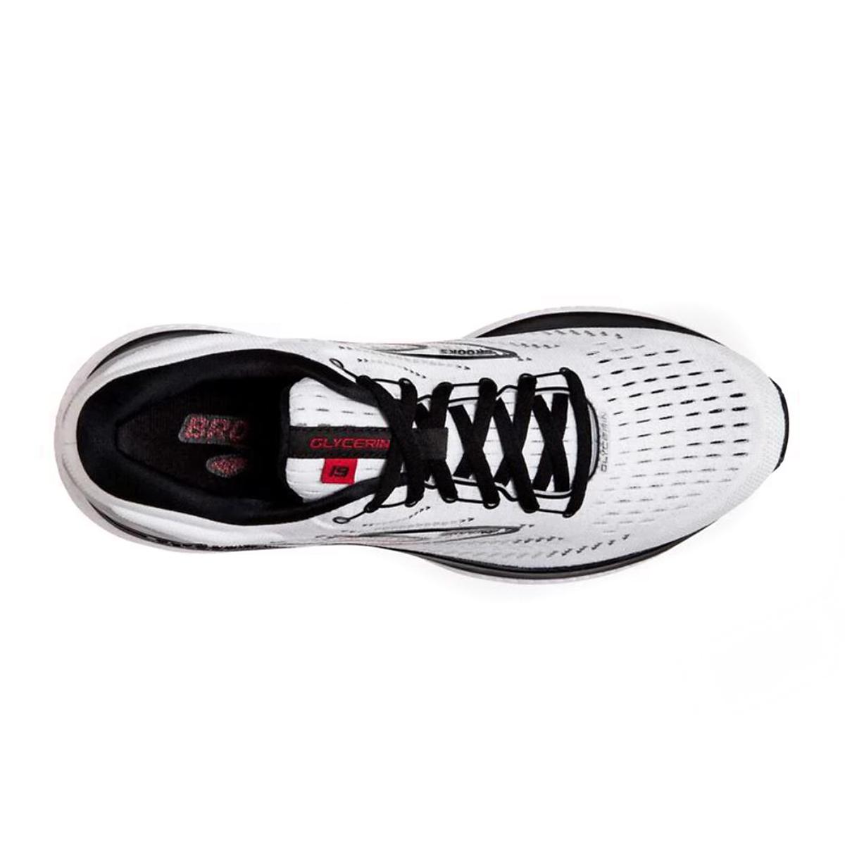 Men's Brooks Glycerin 19 Running Shoe - Color: White/Black/Red - Size: 7 - Width: Regular, White/Black/Red, large, image 5