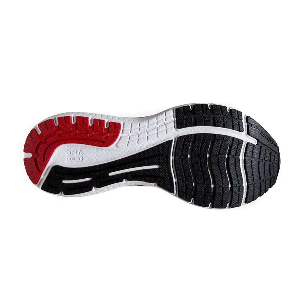 Men's Brooks Glycerin 19 Running Shoe - Color: White/Black/Red - Size: 7 - Width: Regular, White/Black/Red, large, image 6