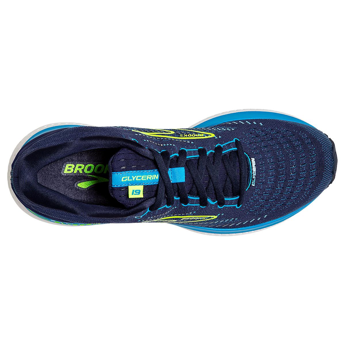 Men's Brooks Glycerin 19 Running Shoe - Color: Navy/Blue/Night - Size: 7 - Width: Regular, Navy/Blue/Night, large, image 2