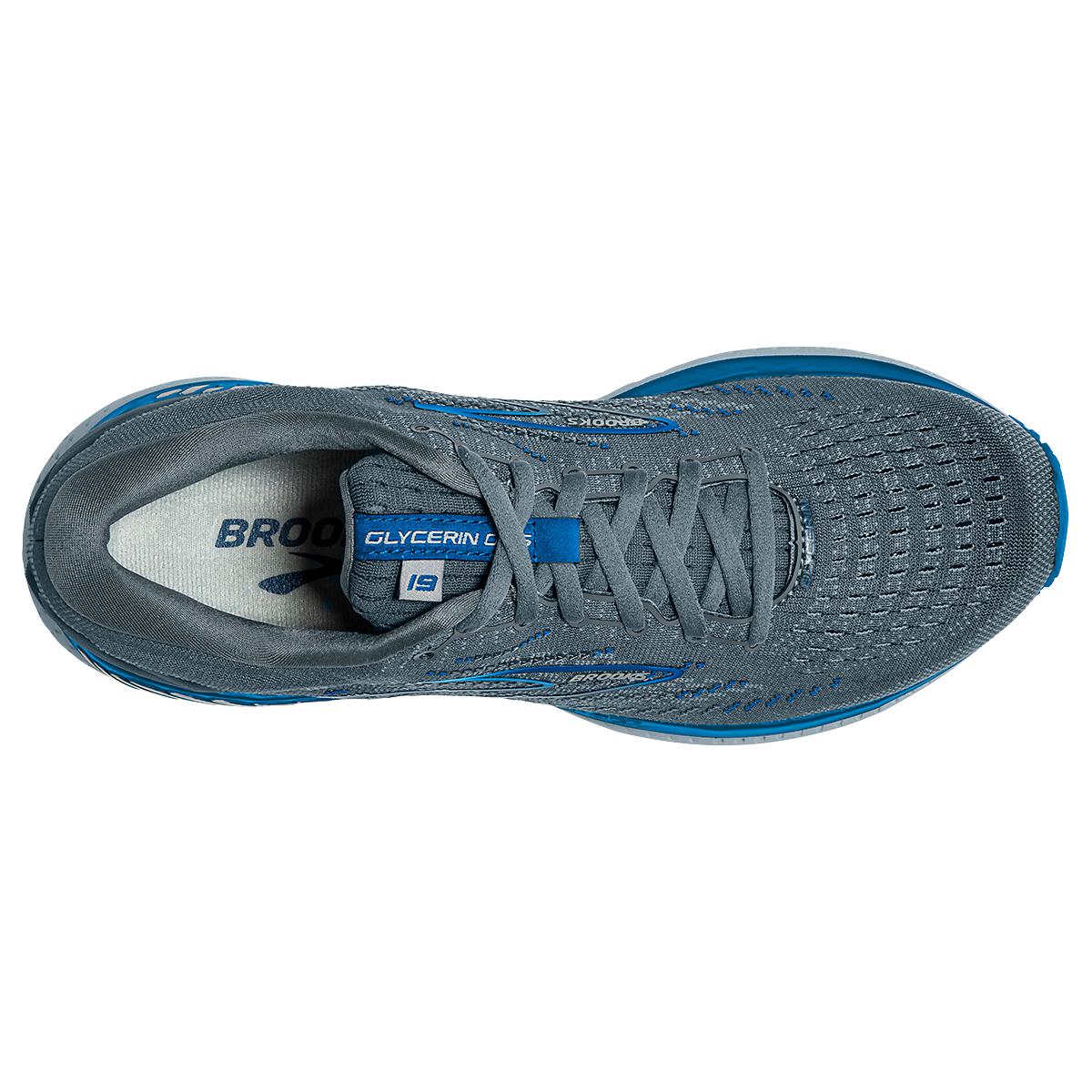 Men's Brooks Glycerin GTS 19 Running Shoe - Color: Quarry/Grey/Dark - Size: 7 - Width: Wide, Quarry/Grey/Dark, large, image 2