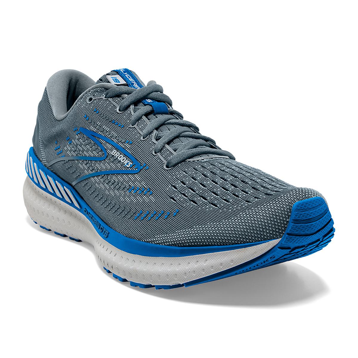 Men's Brooks Glycerin GTS 19 Running Shoe - Color: Quarry/Grey/Dark - Size: 7 - Width: Wide, Quarry/Grey/Dark, large, image 4