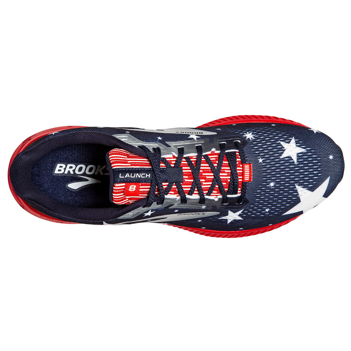 Men's Brooks Launch 8 Running Shoe - Color: Blue/Red/Silver - Size: 7 - Width: Regular, Blue/Red/Silver, large, image 6