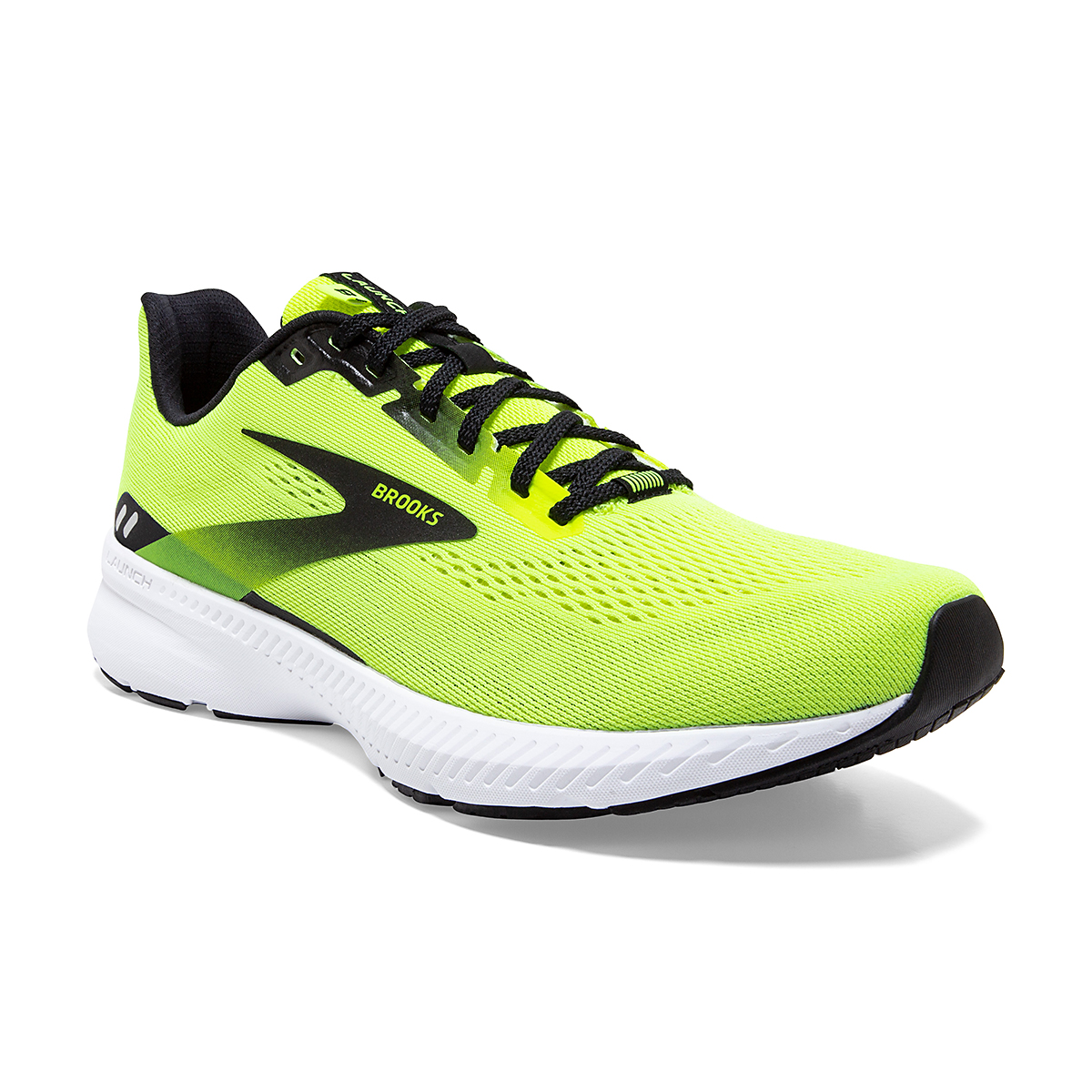 Men's Brooks Launch 8 Running Shoe - Color: Nightlife/Black/White - Size: 7 - Width: Regular, Nightlife/Black/White, large, image 2