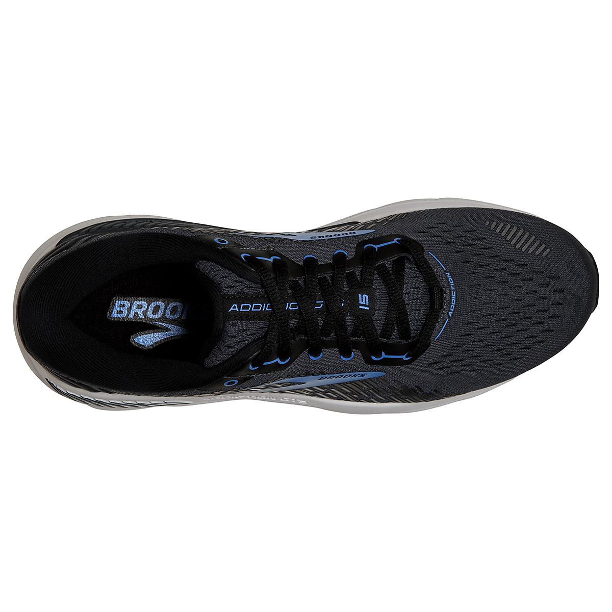 Men's Brooks Addiction GTS 15 Running Shoe - Color: India Ink/Black/Blue - Size: 7 - Width: Regular, India Ink/Black/Blue, large, image 3