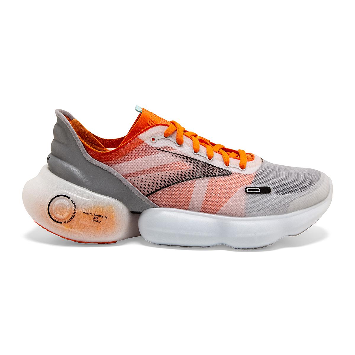 Men's Brooks Aurora-BL Running Shoe - Color: Persimmon/Antarctica - Size: 7 - Width: Regular, Persimmon/Antarctica, large, image 1