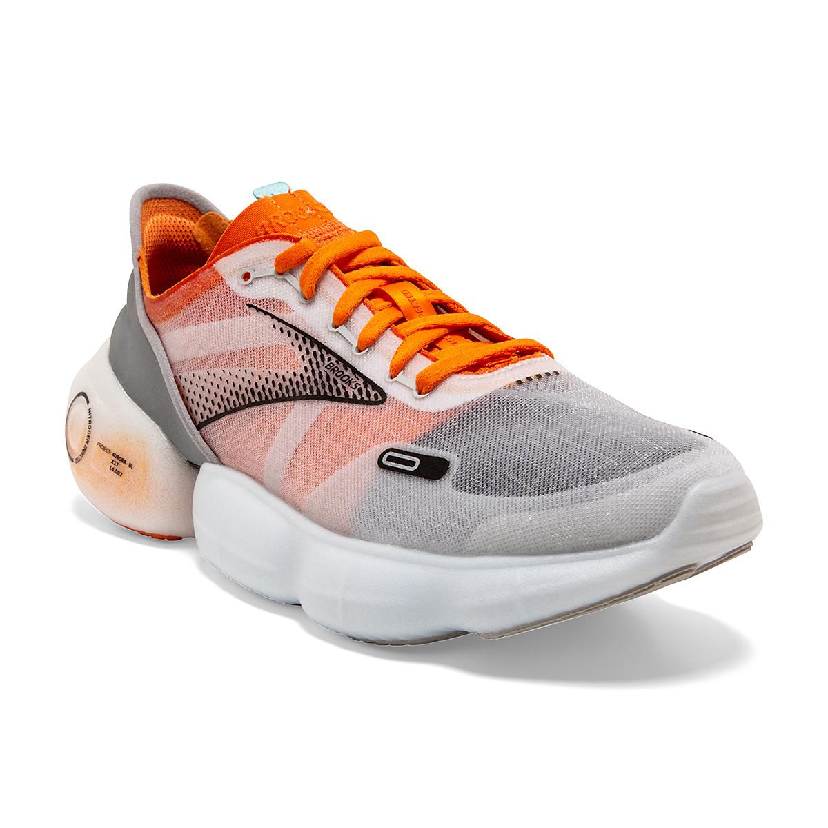 Men's Brooks Aurora-BL Running Shoe - Color: Persimmon/Antarctica - Size: 7 - Width: Regular, Persimmon/Antarctica, large, image 3