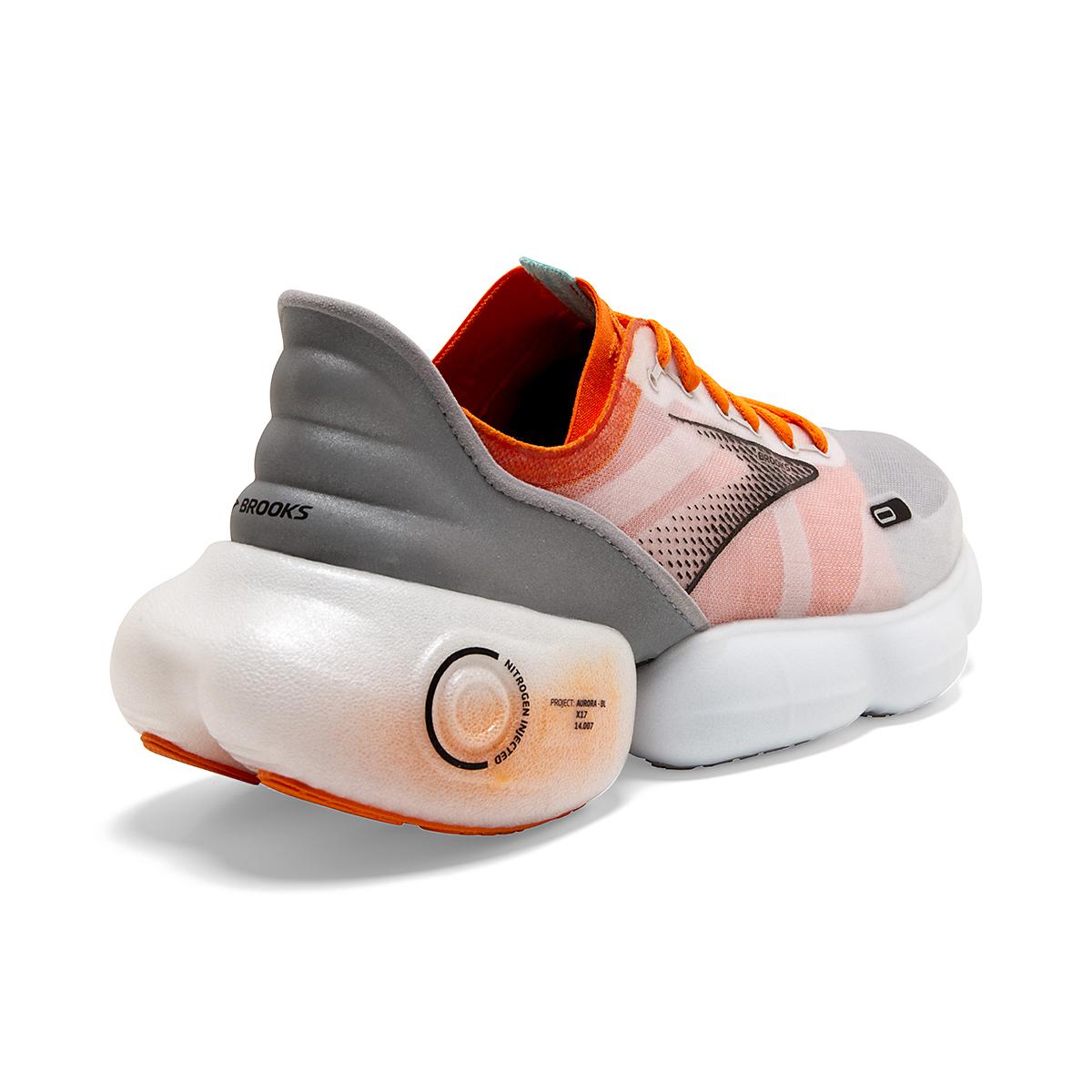 Men's Brooks Aurora-BL Running Shoe - Color: Persimmon/Antarctica - Size: 7 - Width: Regular, Persimmon/Antarctica, large, image 4