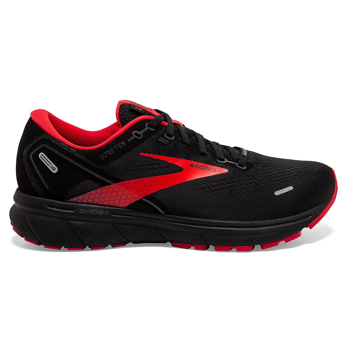 Men's Brooks Ghost 14 Gore-Tex Running Shoe - Color: Black/Blackened - Size: 7 - Width: Regular, Black/Blackened, large, image 1