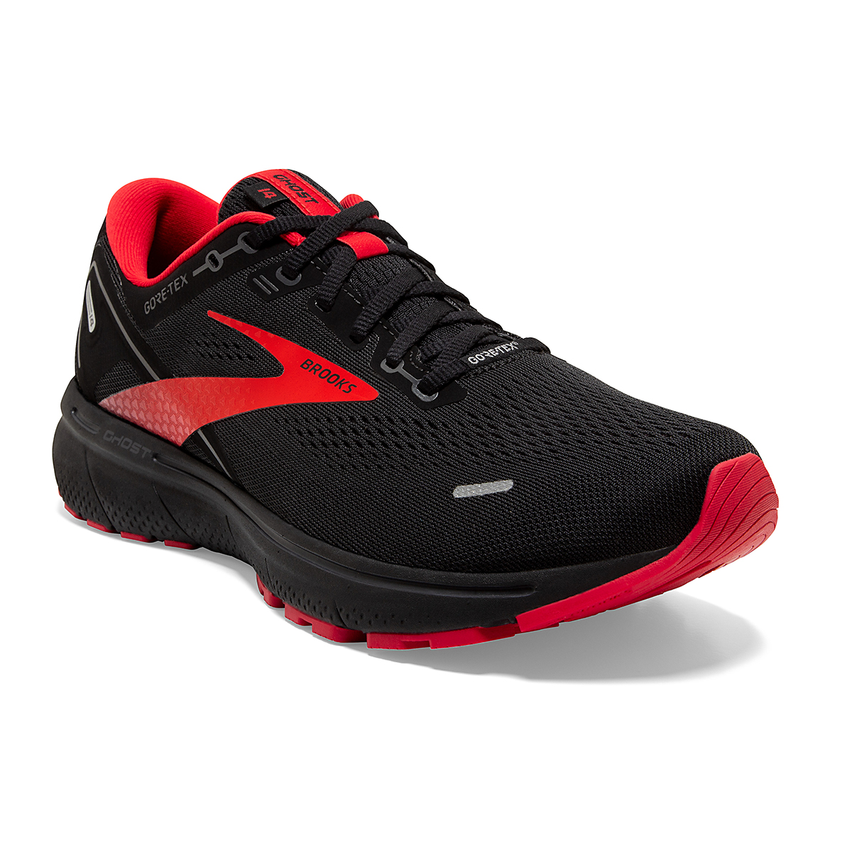 Men's Brooks Ghost 14 Gore-Tex Running Shoe - Color: Black/Blackened - Size: 7 - Width: Regular, Black/Blackened, large, image 5