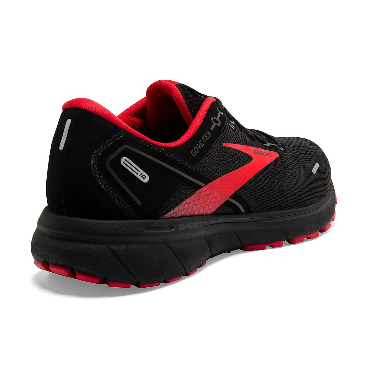 Men's Brooks Ghost 14 Gore-Tex Running Shoe - Color: Black/Blackened - Size: 7 - Width: Regular, Black/Blackened, large, image 6