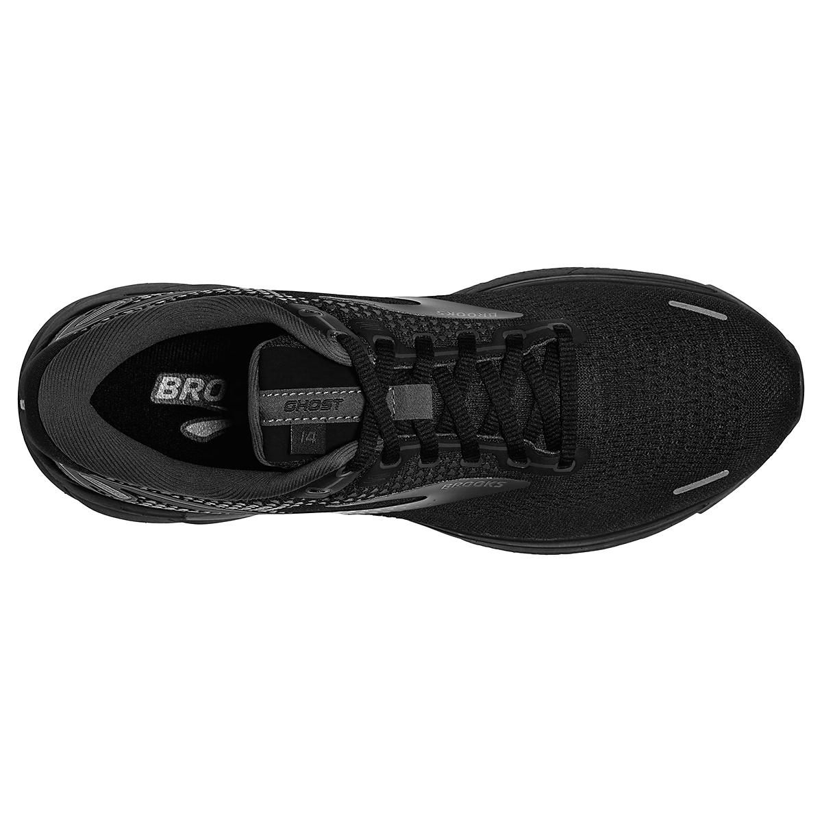 Men's Brooks Ghost 14 Running Shoe - Color: Black/Black/Ebony - Size: 7 - Width: Regular, Black/Black/Ebony, large, image 3