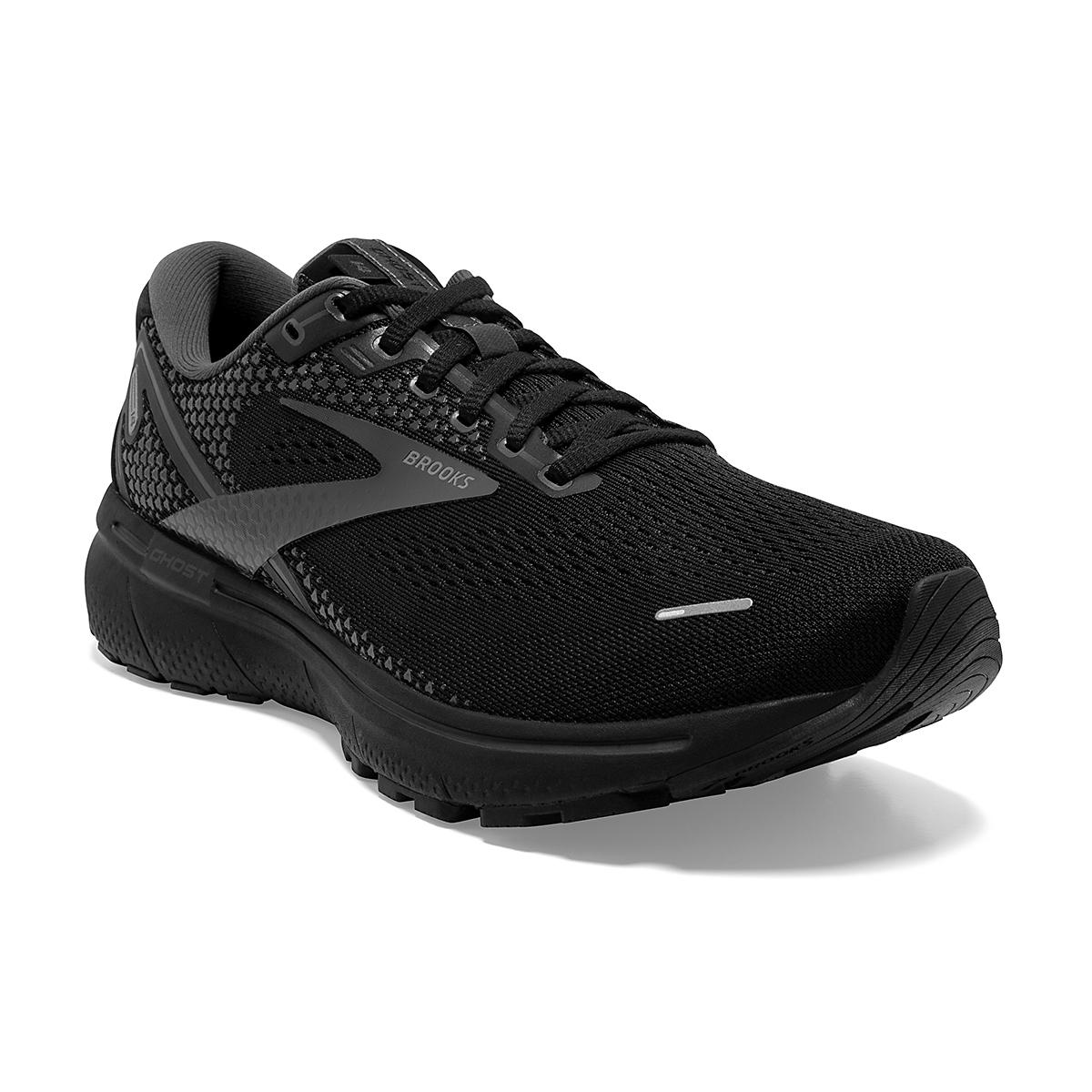 Men's Brooks Ghost 14 Running Shoe - Color: Black/Black/Ebony - Size: 7 - Width: Regular, Black/Black/Ebony, large, image 5
