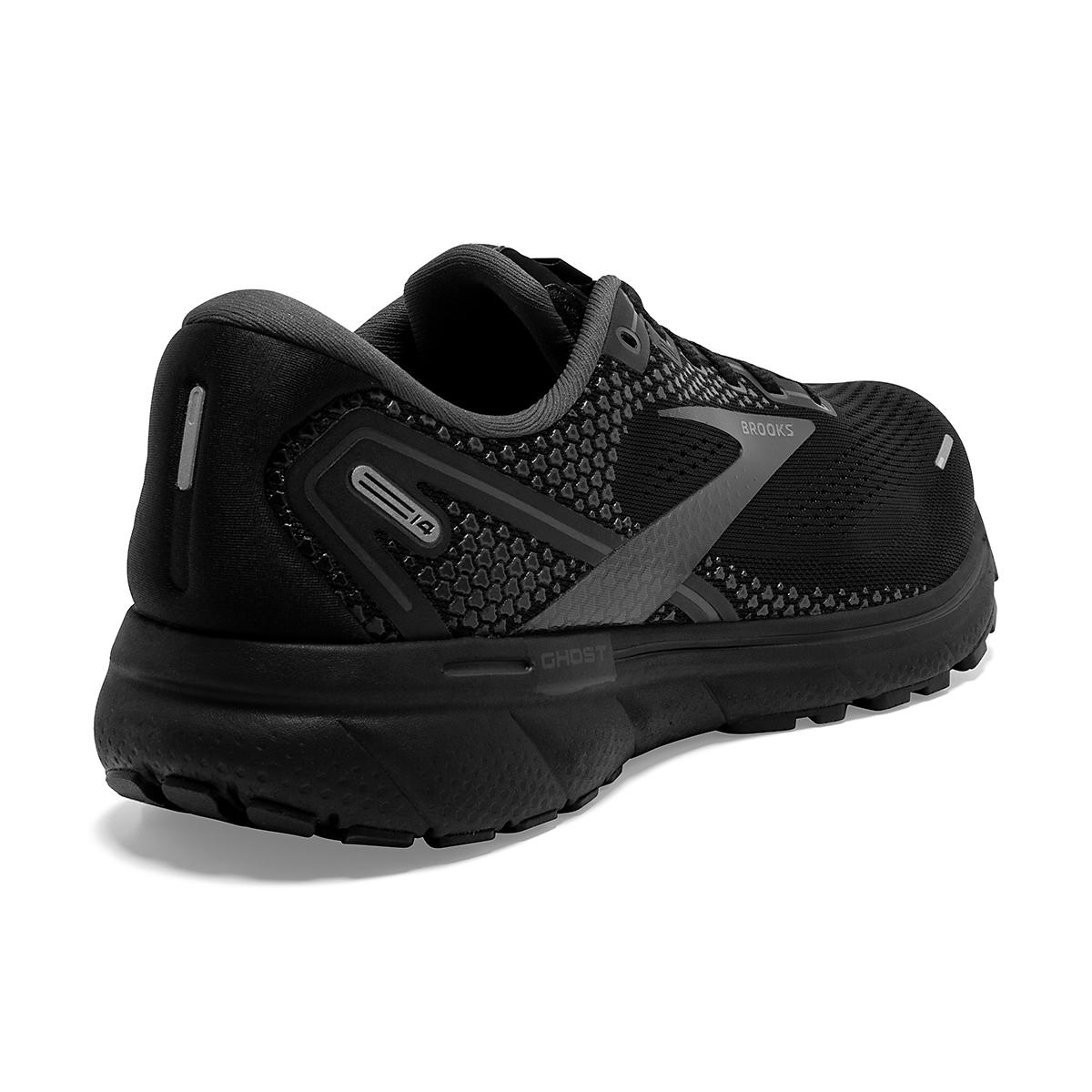 Men's Brooks Ghost 14 Running Shoe - Color: Black/Black/Ebony - Size: 7 - Width: Regular, Black/Black/Ebony, large, image 6
