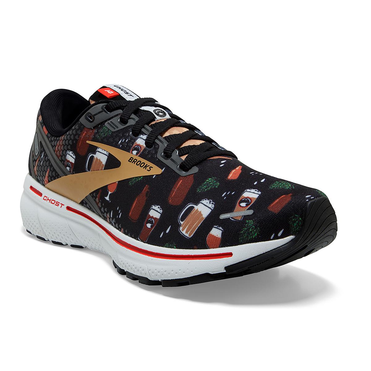 Men's Brooks Ghost 14 Running Shoe - Color: Run Hoppy - Size: 7 - Width: Regular, Run Hoppy, large, image 2