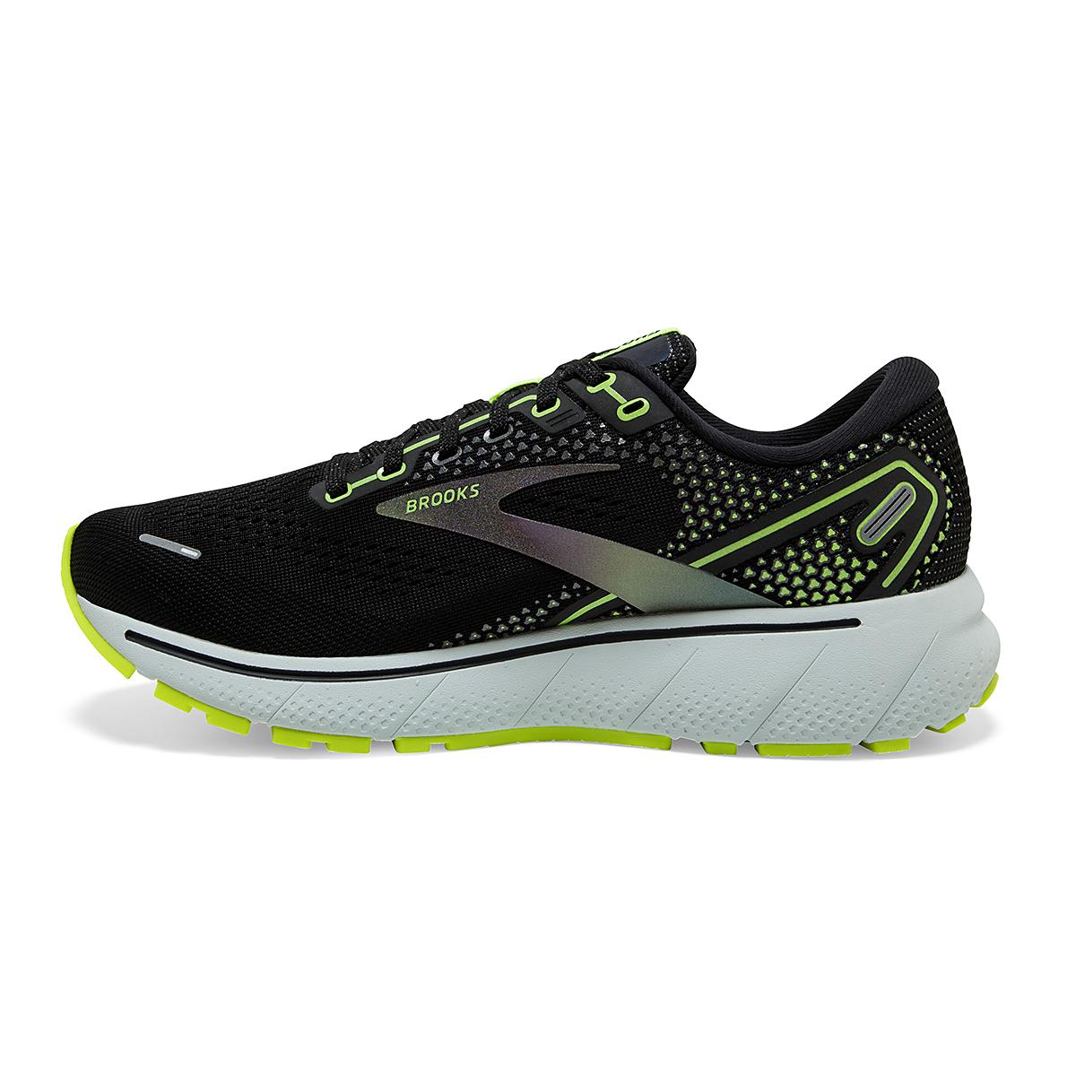 Men's Brooks Ghost 14 Running Shoe - Color: Black/Nightlife - Size: 7 - Width: Regular, Black/Nightlife, large, image 2