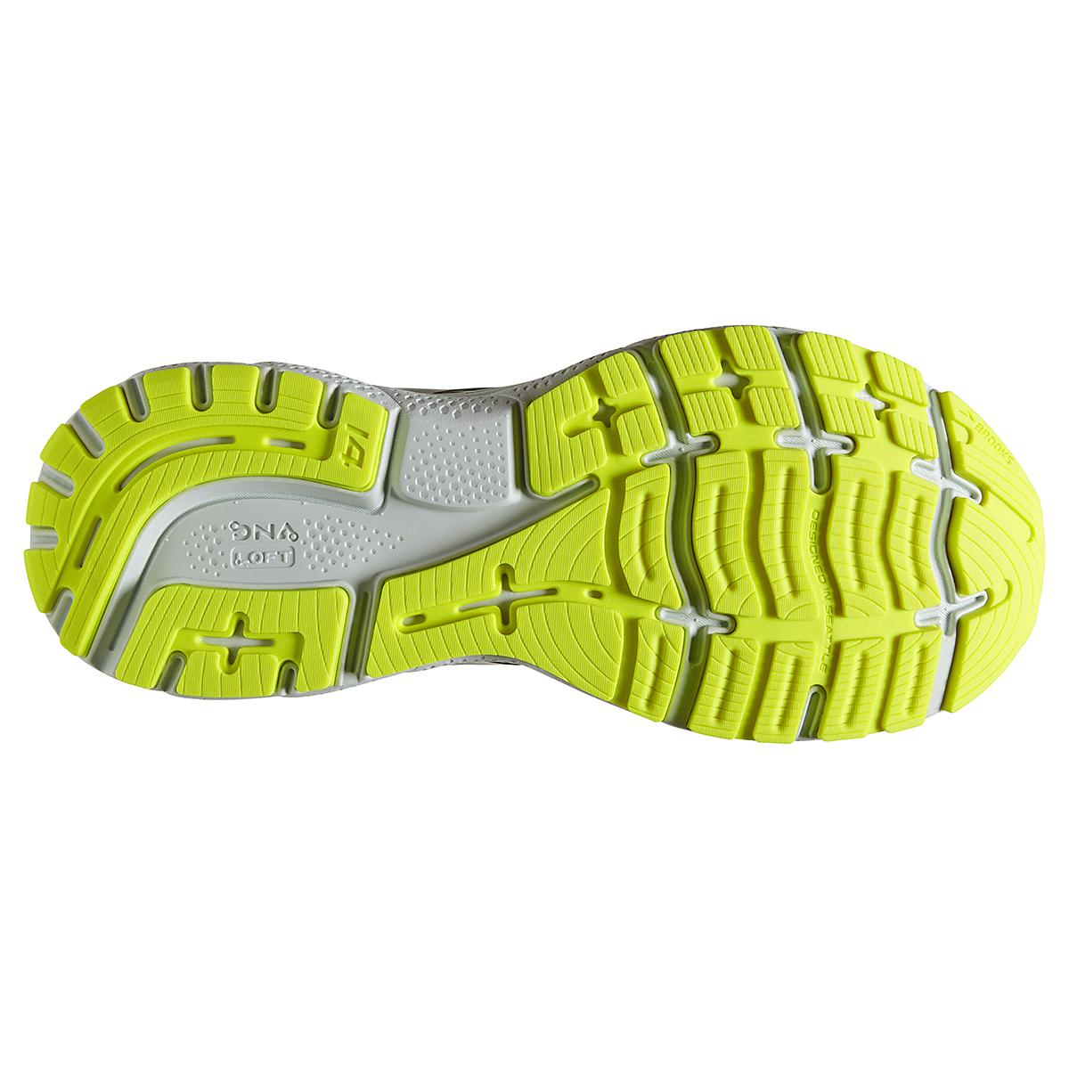 Men's Brooks Ghost 14 Running Shoe - Color: Black/Nightlife - Size: 7 - Width: Regular, Black/Nightlife, large, image 4