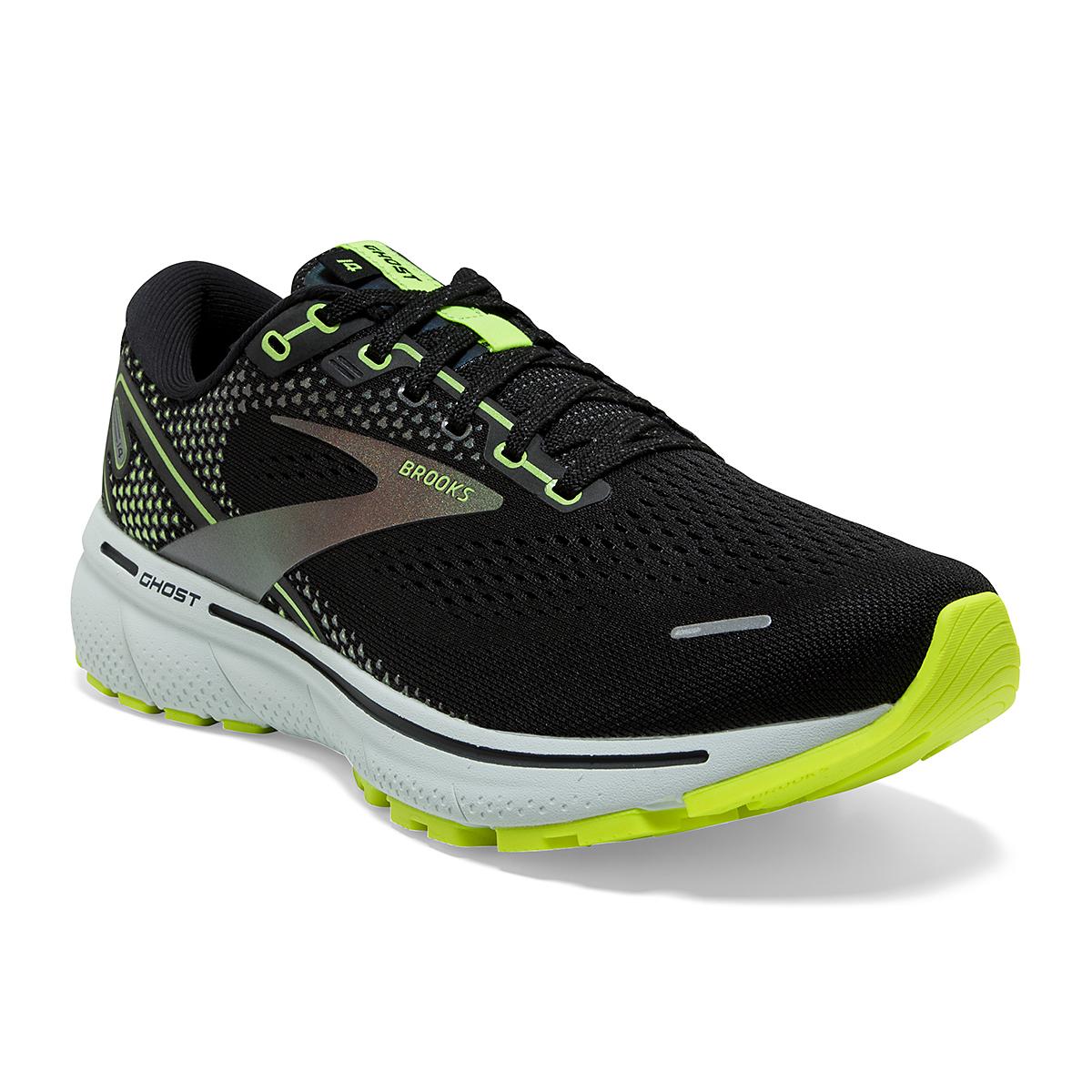 Men's Brooks Ghost 14 Running Shoe - Color: Black/Nightlife - Size: 7 - Width: Regular, Black/Nightlife, large, image 5