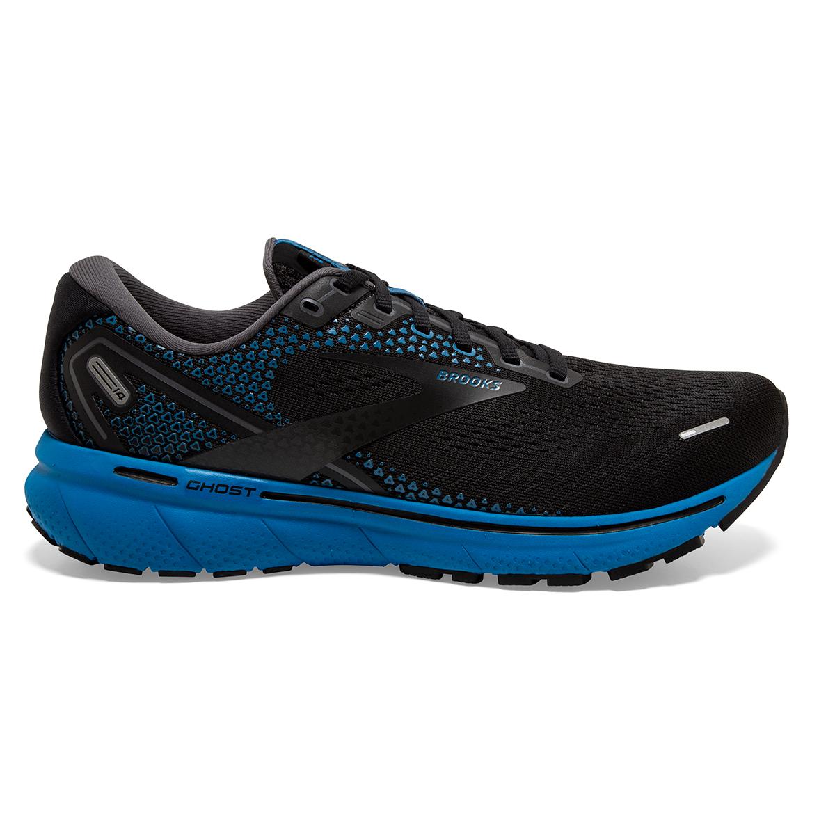 Men's Brooks Ghost 14 Running Shoe - Color: Black/Blackened - Size: 7 - Width: Regular, Black/Blackened, large, image 1