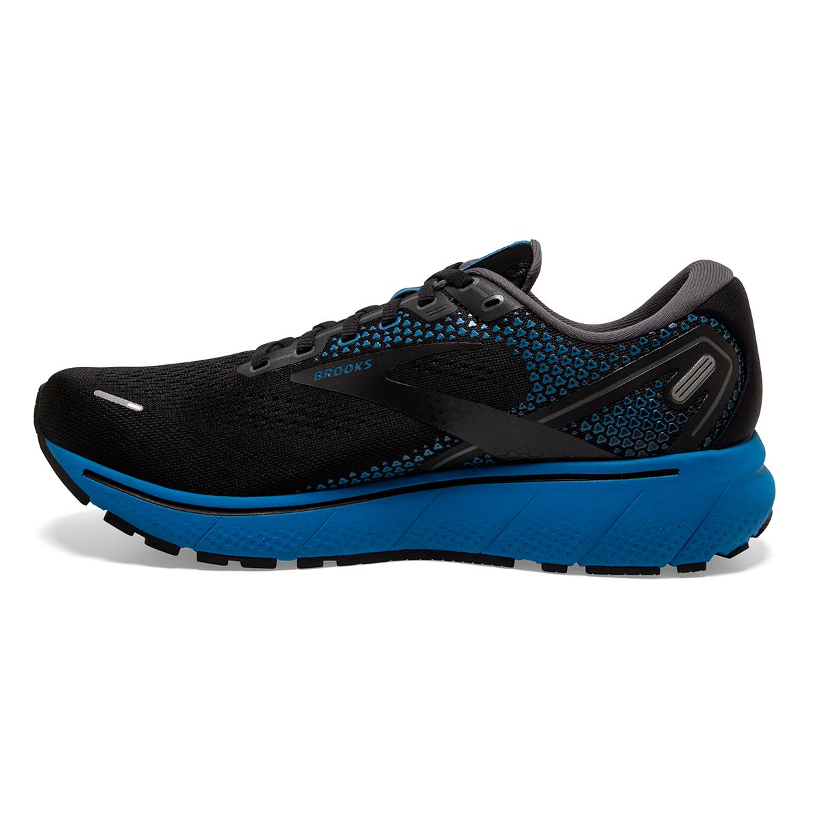 Men's Brooks Ghost 14 Running Shoe - Color: Black/Blackened - Size: 7 - Width: Regular, Black/Blackened, large, image 2