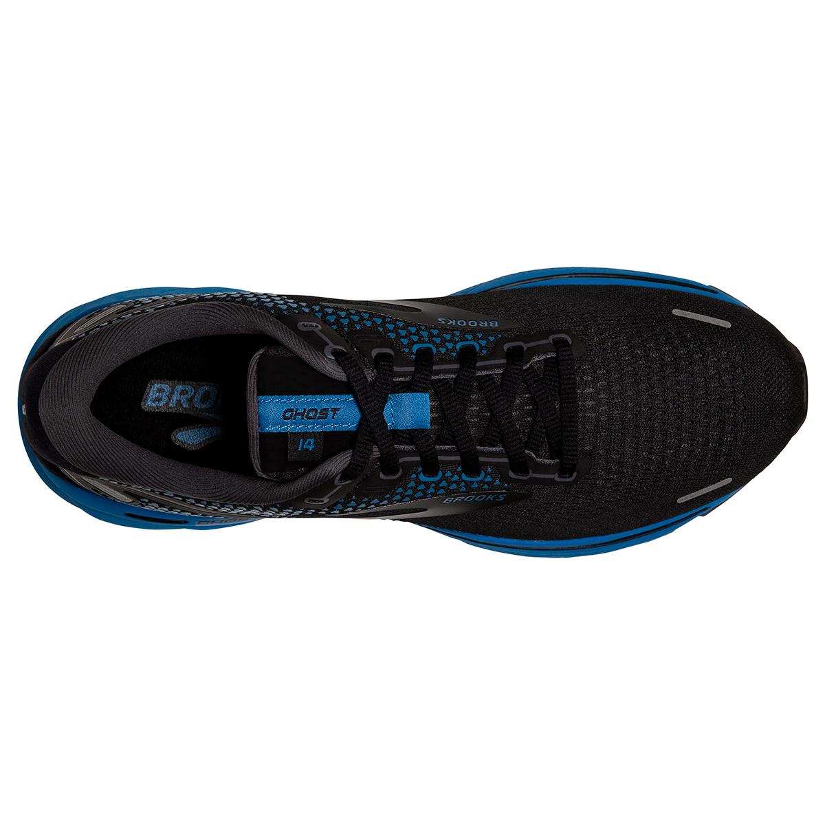 Men's Brooks Ghost 14 Running Shoe - Color: Black/Blackened - Size: 7 - Width: Regular, Black/Blackened, large, image 3