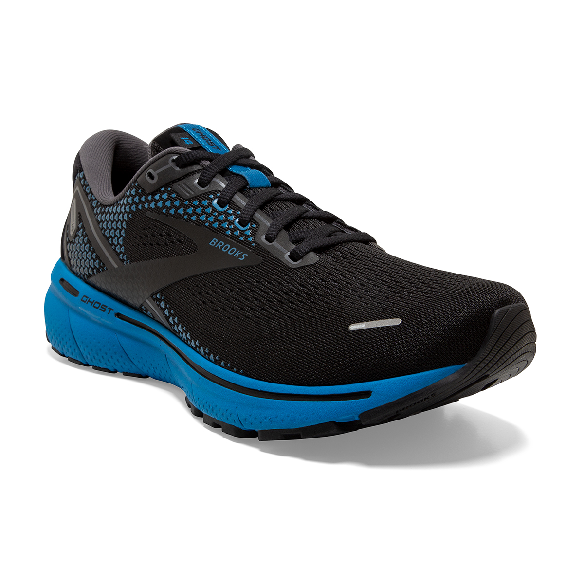 Men's Brooks Ghost 14 Running Shoe - Color: Black/Blackened - Size: 7 - Width: Regular, Black/Blackened, large, image 5
