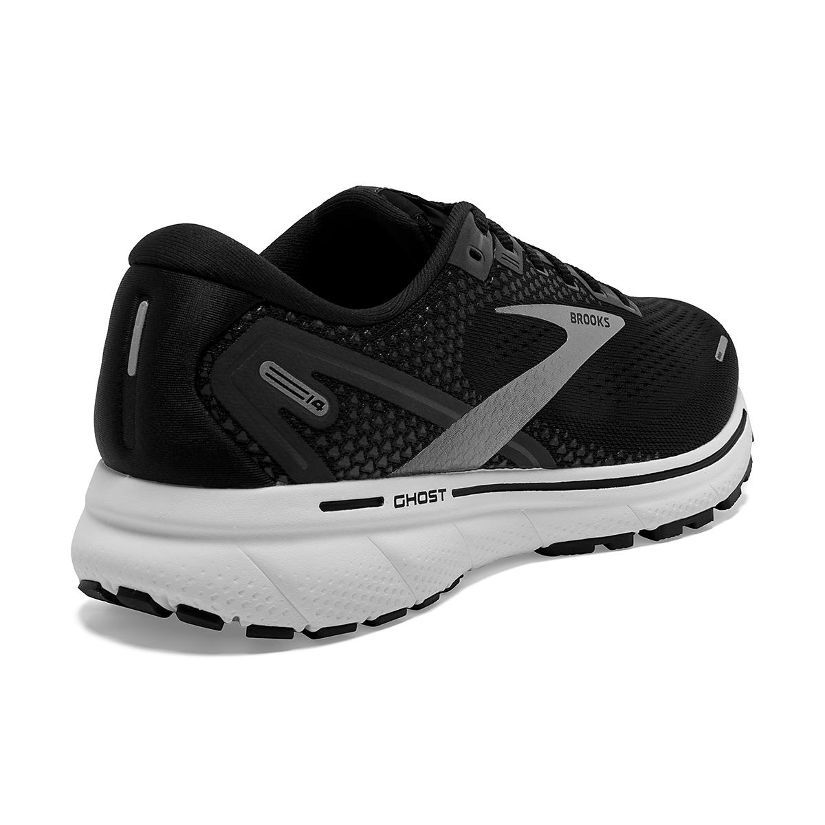 Men's Brooks Ghost 14 Running Shoe - Color: Black/White - Size: 7 - Width: Regular, Black/White, large, image 3