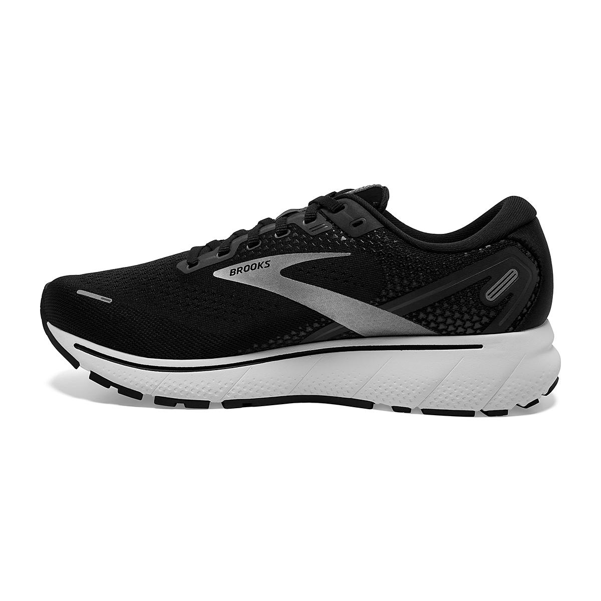 Men's Brooks Ghost 14 Running Shoe - Color: Black/White - Size: 7 - Width: Regular, Black/White, large, image 4