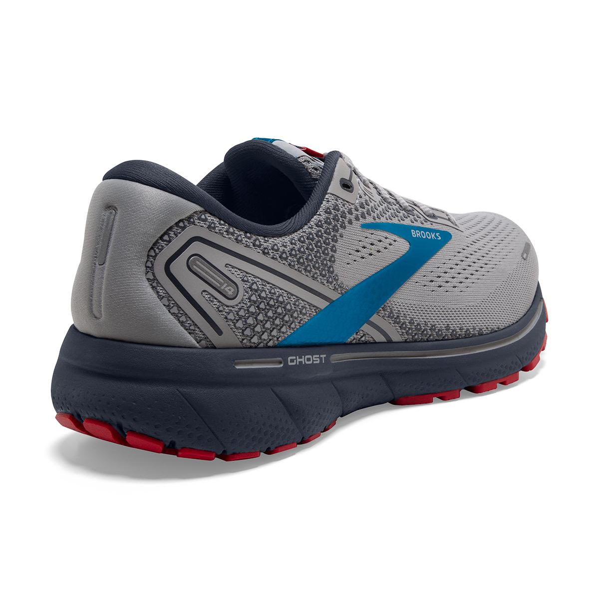 Men's Brooks Ghost 14 Running Shoe - Color: Grey/Blue/Red - Size: 7 - Width: Regular, Grey/Blue/Red, large, image 6
